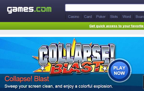 Games.com Online Gaming Website