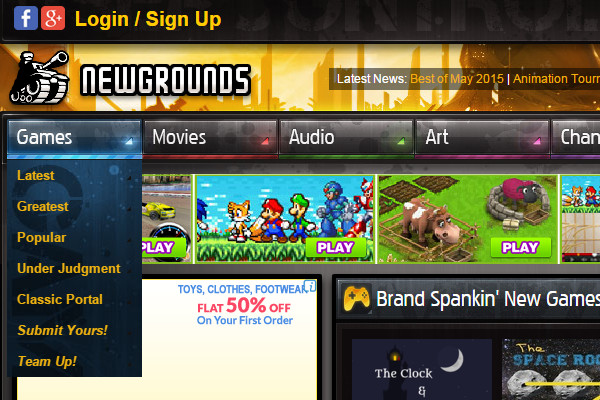 Newsgrounds Online Gaming Website