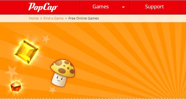 PopCap Online Gaming Website
