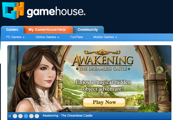 gamehouse Online Gaming Website