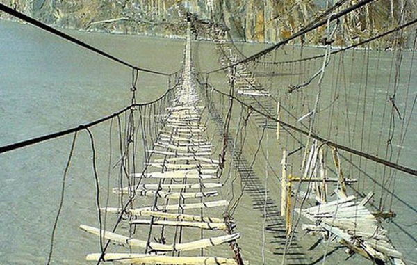 Hussaini Hanging Bridge Pakistan