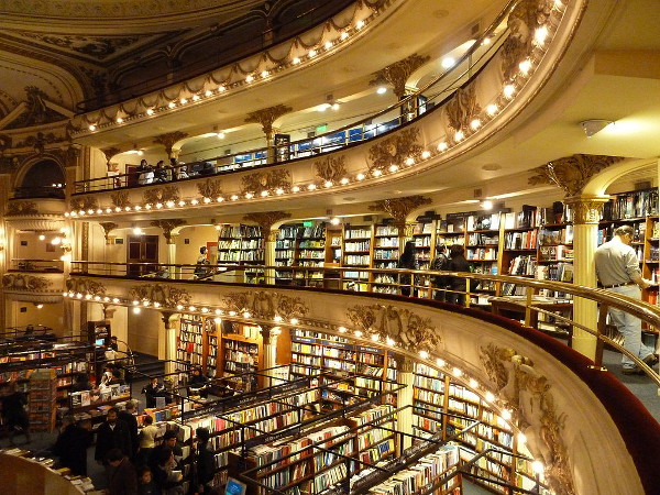 El Ateneo Beautiful Library Interior