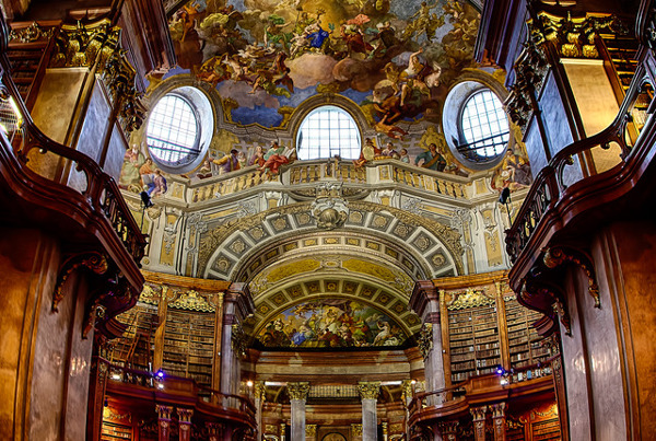 Austrian National Library Austria Beautiful Library Interior
