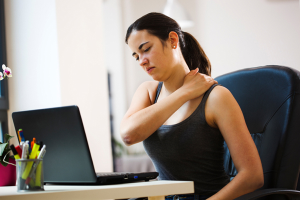 Back pain due to sitting long