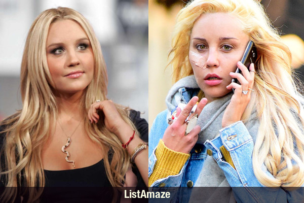 Amanda Bynes Before and After Drugs