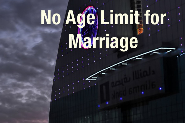 In Saudi Arabia, No Age Limit for Women to Marry