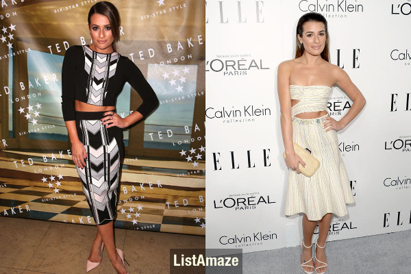 Lea Michele Beautiful Short Hollywood Actress