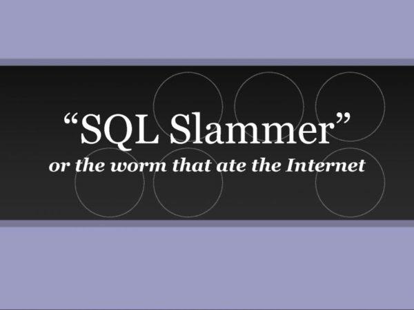 SQL Slammer Worm