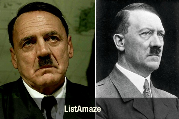 Bruno Ganz as Adolf Hitler