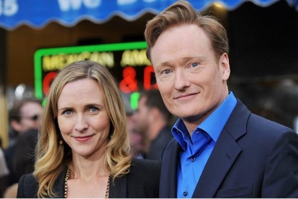 Conan O'Brien With Wife Elizabeth Ann Liza Powel