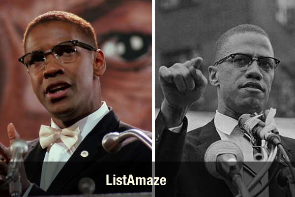 Denzel Washington as Malcolm X