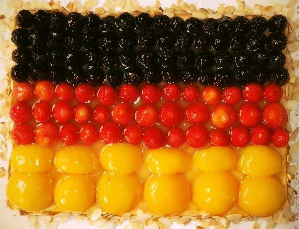 Happy Birthday Cake of Germany Flag - Wishing in Advance is Bad Luck