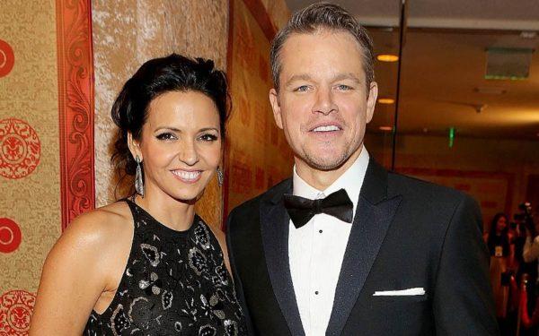 Matt Damon With Wife Luciana Bozán Barroso