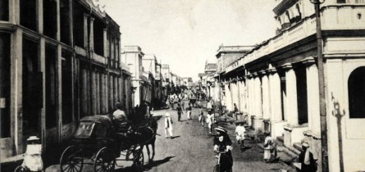 Commercial Street of Bangalore with Electric Poles