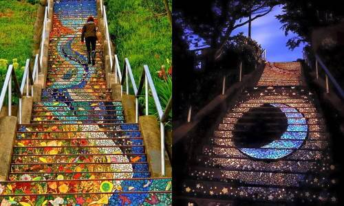 Beautiful San Francisco's 16th Ave Tiled Steps