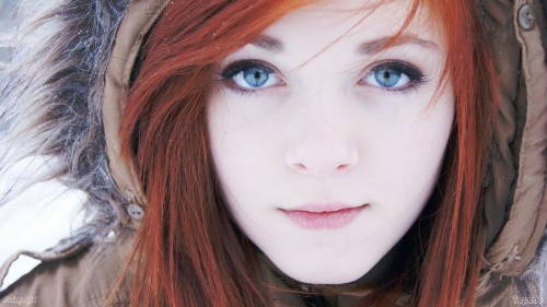 Red Hair and Blue Eyes is the Rares in the World