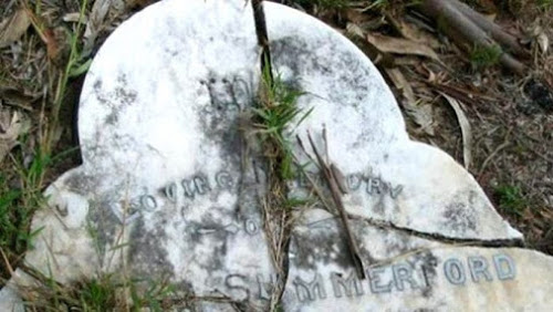 Walter Summerford's Grave Struck By Lightning